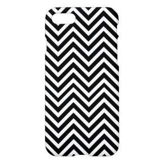 Black and white elegant chevron customizable iPhone 7 case