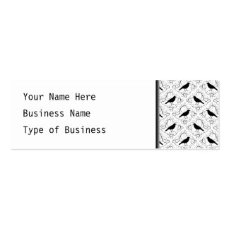 Black and White Elegant Crow Pattern. Business Card Templates
