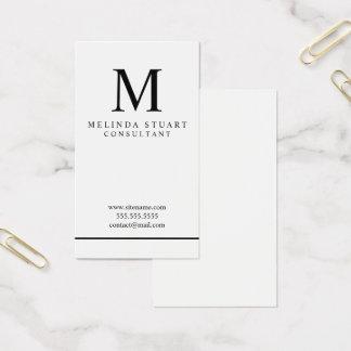 Black and White Elegant Monogram Business Card
