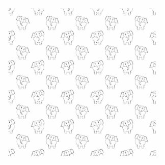 Black and White Elephant Pattern. Photo Cut Outs