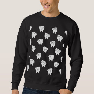 Black and White Elephant Pattern. Sweatshirt