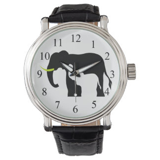 Black and White Elephants Watches