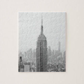 Black and White Empire State Building Manhattan Jigsaw Puzzle