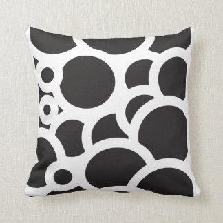 Black and white escape rounds custom pillow throw cushions