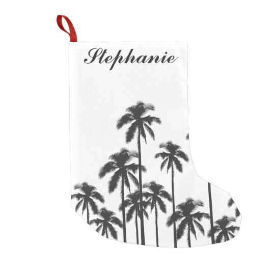 Black and White Exotic Tropical Palm Trees Small