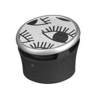 Black and white Eyes Speaker