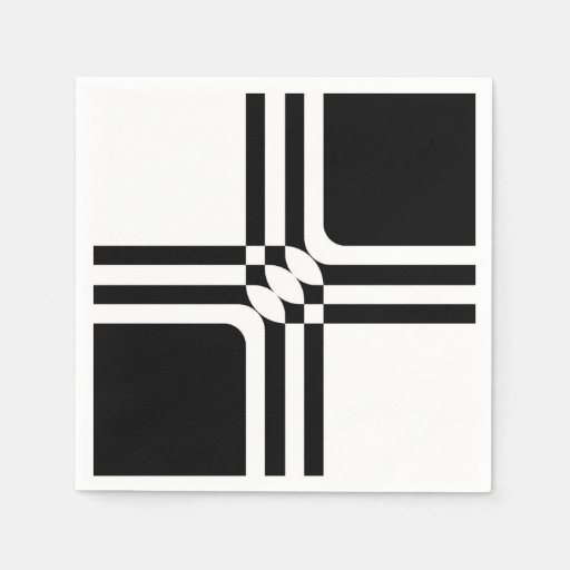 Black and white fantasy Disposable Napkin