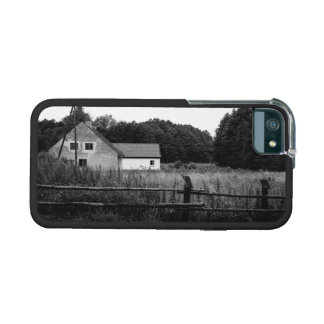 Black and White Farm In A Grassland Landscape iPhone 5 Cases