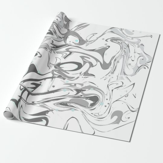 Black and white faux marble texture wrapping paper