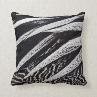 Black And White Feather Abstract Cushion