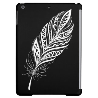 Black and White Feather Case