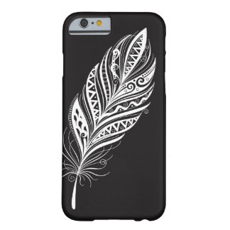Black and White Feather Cell Phone Case