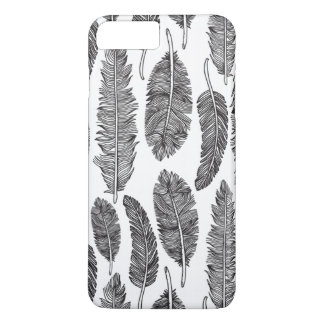 Black and White Feather Iphone7 Plus Case
