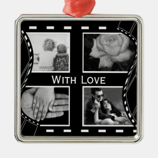 Black and White Film Reel Christmas Ornament