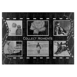 Black and White Film Reel Cutting Board