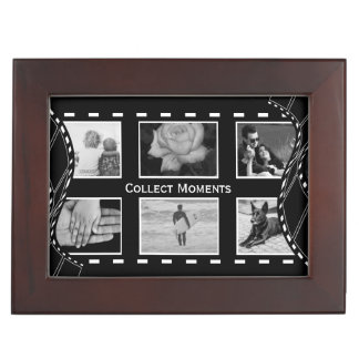 Black and White Film Reel Keepsake Box