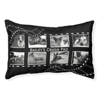 Black and White Film Reel Pet Bed