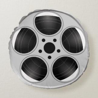 BLACK AND WHITE FILM REEL ROUND CUSHION