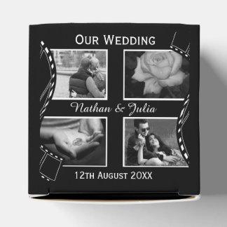 Black and White Film Reel Wedding Favour Box