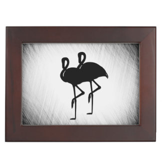 Black and White Flamingo Keepsake Box