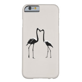 Black and White Flamingo Love Phone Case