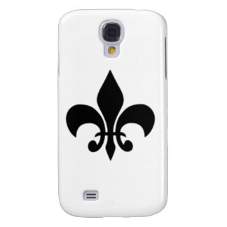 Black And White Fleur De  Lis Galaxy S4 Case