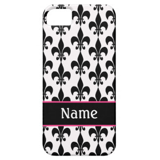 Black and White Fleur de Lis iPhone 5 Case