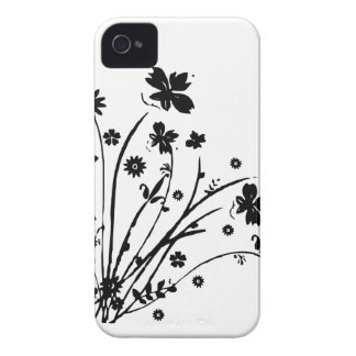 Black And White Floral Burst Case-Mate iPhone 4 Case