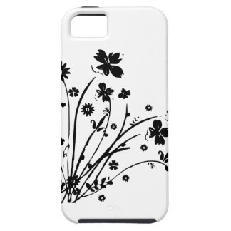 Black And White Floral Burst iPhone 5/5S Cover