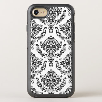 Black And White Floral Damask OtterBox Symmetry iPhone 8/7 Case