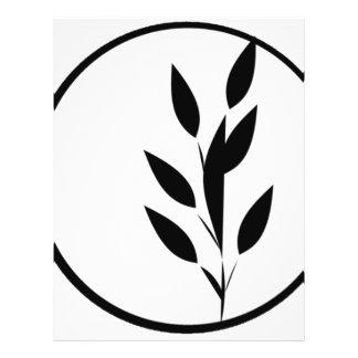 Black and White Floral Design 21.5 Cm X 28 Cm Flyer