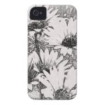 Black and White Floral Design Blackberry Bold Case