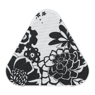 Black and White Floral Garden Graphic Pattern