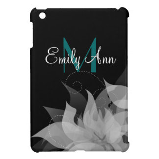 Black and White Floral Girls iPad Mini Case