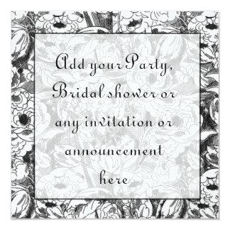 Black and White Floral Multi purpose Invitation