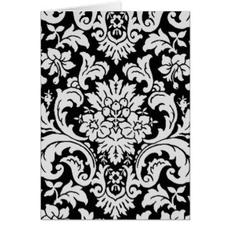 Black and White Floral Note Card