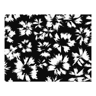 Black and white floral pattern. Funky. 21.5 Cm X 28 Cm Flyer