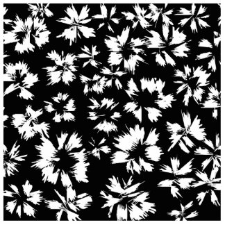 Black and white floral pattern. Funky. Photo Sculpture Decoration