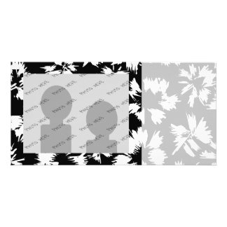 Black and white floral pattern. photo cards