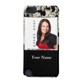 black and white floral photo template iPod touch (5th generation) cases