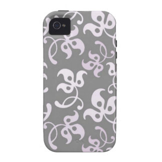 Black And White Floral Print Case For The iPhone 4