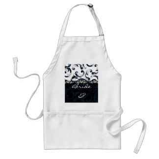 Black and White Floral Standard Apron