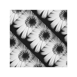 Black and White Flower Canvas Gallery Wrap Canvas