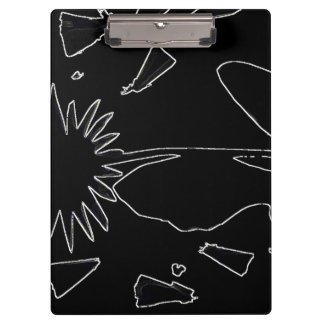 Black And White Flower Clipboard