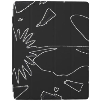 Black And White Flower iPad Smart Cover iPad Cover