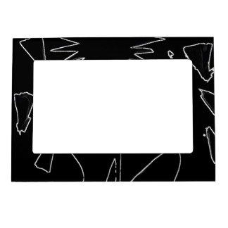 Black And White Flower Magnetic Frame