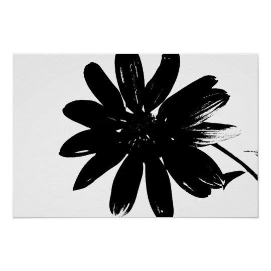 Black and white flower poster zazzle black and white flower poster mightylinksfo Image collections