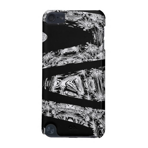 Black and white flower swirl design iPod case iPod Touch 5G Covers