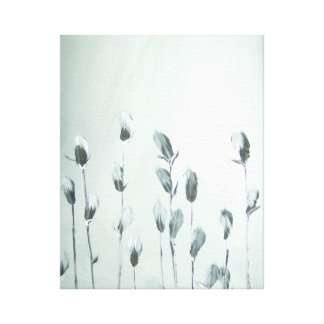 Black and White Flowers - Canvas!!! Gallery Wrapped Canvas
