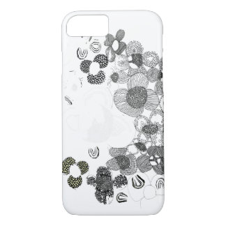 Black And White Flowers iPhone 7 Case